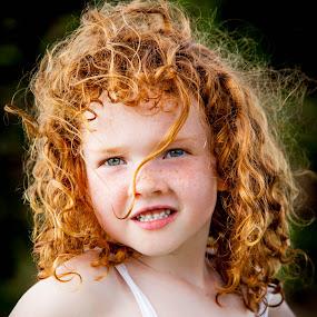quick look! by Sheena True - Babies & Children Children Candids ( redhead, green eyes, freckles, pretty, curly hair )