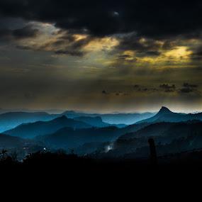 light of god by Jayanta Roy - Landscapes Mountains & Hills