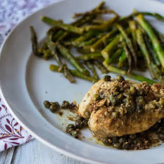 Creamy Lemon Chicken With Capers.
