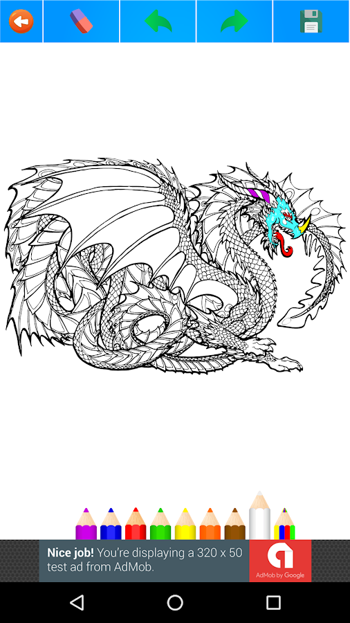 Dragon Coloring Book For Adults 2017 Free Screenshot