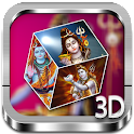 Shiv 3D cube live wallpaper icon