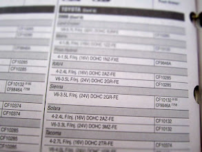 Photo: Under the my vehicle's year, make and model, there were two air filter numbers listed with footnotes.