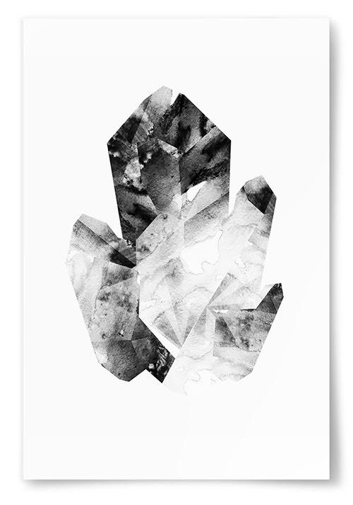 Poster Svartvit Kristall No3