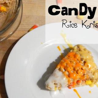 Candy Corn Rice Krispies Treats {vegan}.