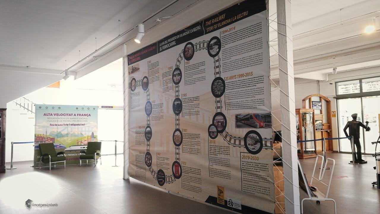 Espai principal i recepció del Museu dels Ferrocarrils a Vilanova i la Geltrú, Barcelona