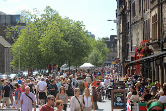 Photo: Peak season in Edinburgh - especially with the Fringe Festival going on.