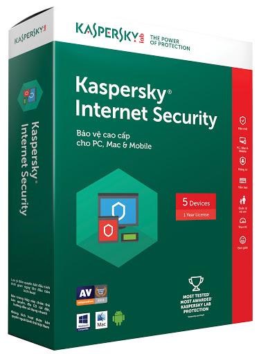 Phần mềm Kaspersky Internet Security 5 máy tính