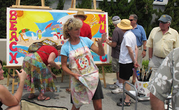 Photo: Annual Mural Competition sponsored by Beaufort Sister Cities Several residents working on community mural