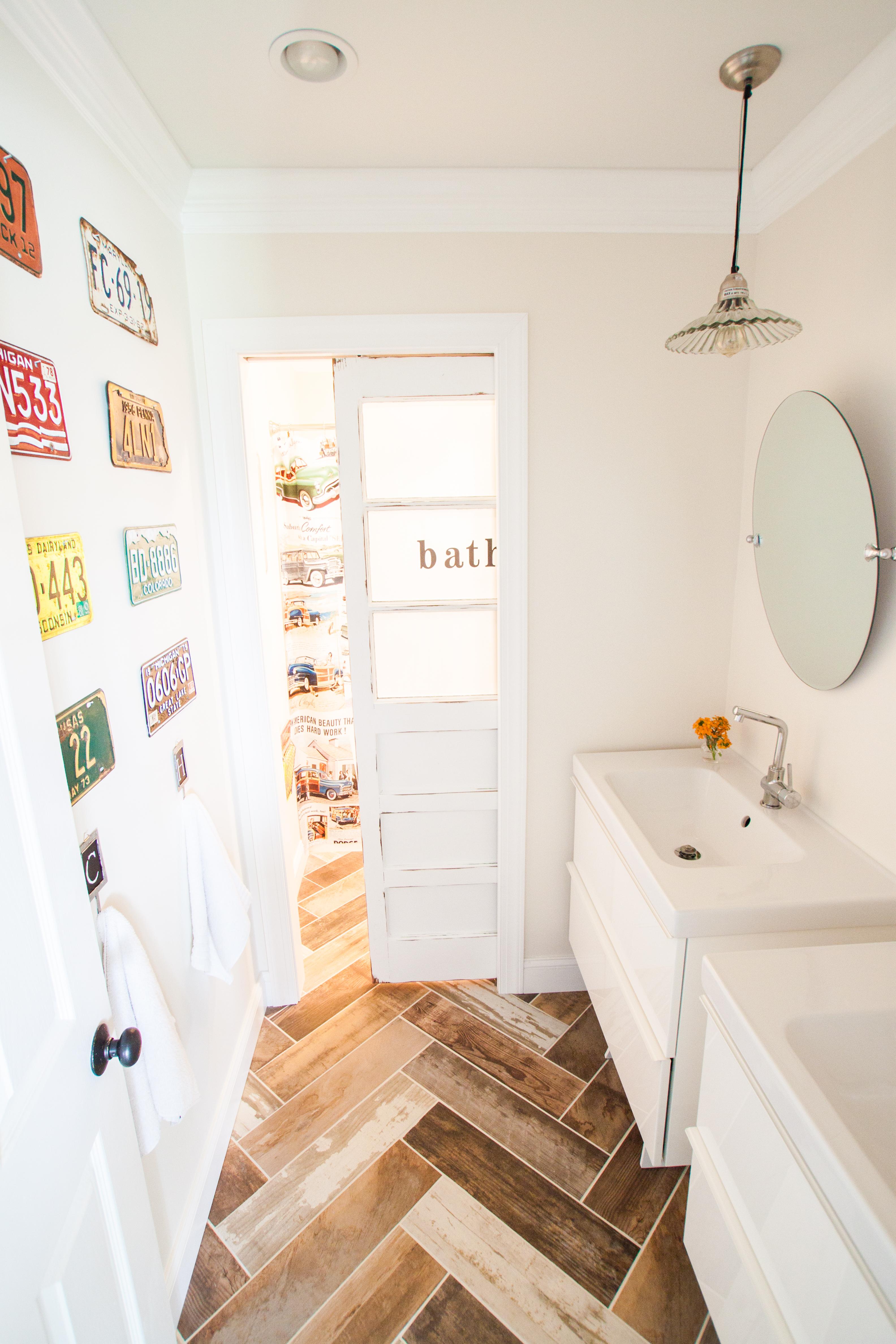 Our 1800 Kids DIY Bathroom Reveal The Heathered Nest