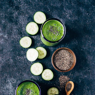 Hydrating Cucumber Spinach Smoothie.