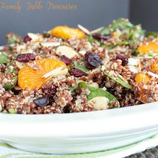 Cranberry Quinoa Salad {with Mandarin Oranges & Almonds}.
