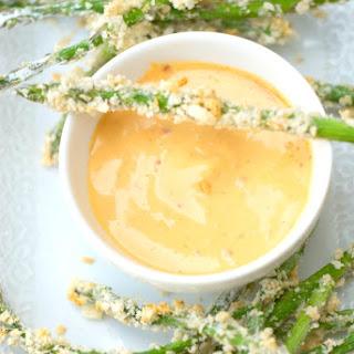 Crispy Asparagus with Sriracha Mayo.