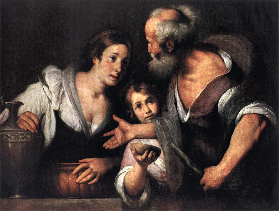 Bernardo Strozzi, Elijah and the Widow of Zarephath, Kunsthistorisches Museum, Vienna, 1630s.jpg