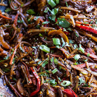 30-Minute Stir Fried Korean Beef and Toasted Sesame Noodles..