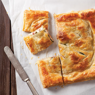 Turkey and Brie Stuffed Pastry.
