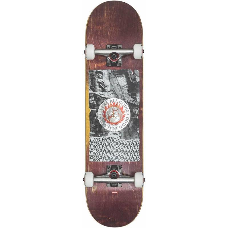 skateboard - Globe G2 In flames holo Quake 8