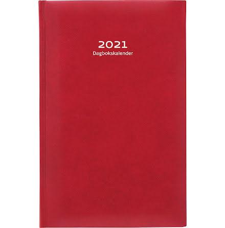 Dagbokskalender k.läder röd