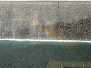 Photo: Rainbow in the South Tower Reflection Pool.