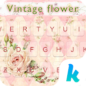 Vintage Flower Keyboard Theme