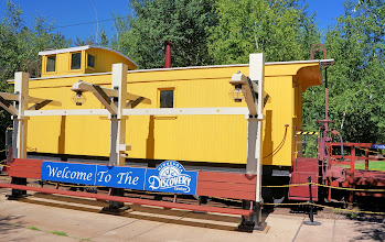 Photo: A caboose permanently placed just inside the Discovery Center at Wilpen Train Depot.
