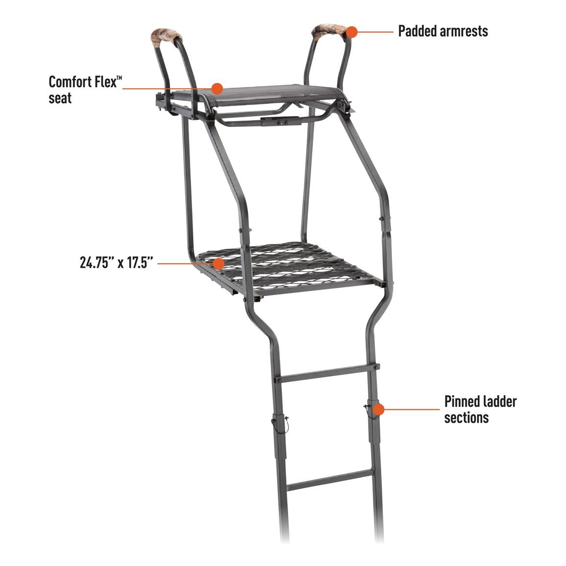 Ultra Comfort 18 ft Tree Stand Ladder Climber Bow Archery