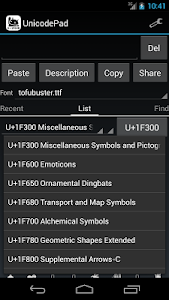 Unicode Pad screenshot 6