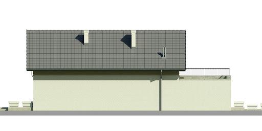 Dom przy Migdałowej 2 - Elewacja lewa