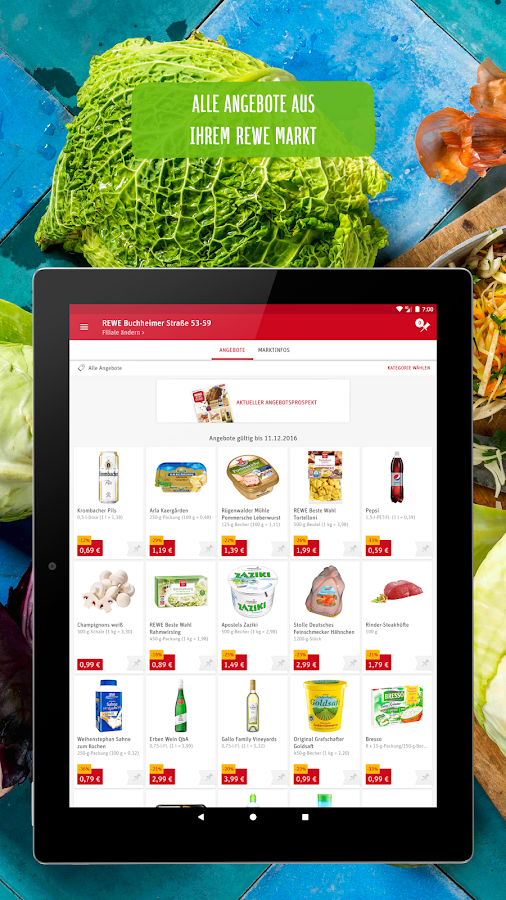 REWE Lieferservice, Supermarkt- screenshot
