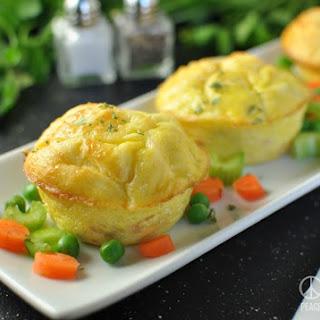 Chicken Pot Pie Egg Muffins - Low Carb, Gluten Free