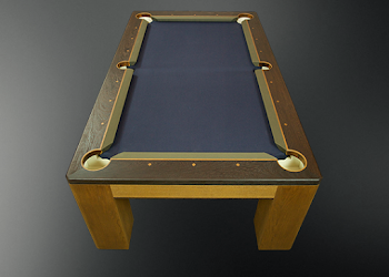 Birds eye view of the Custom USA Pool Table