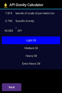 API Gravity Calculator- screenshot thumbnail
