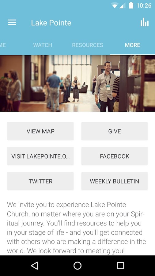 Lake Pointe Church- screenshot