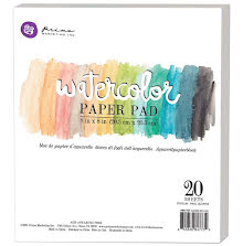 Prima Watercolor Paper Pad 8X8 20/Pkg