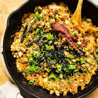 Kimchi Cauliflower Fried Rice.