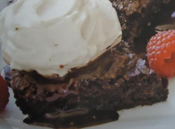 My Mucha Cream Brownie Wedges W/ Fresh Raspberris Recipe