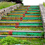 Colorful stairs to nowhere by Janet Smothers - Artistic Objects Other Objects (  )