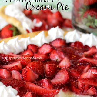 Fresh Strawberries & Cream Pie