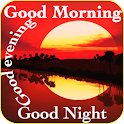 Good morning evening night messages and images Gif icon