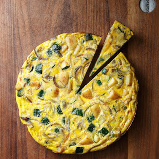 Zucchini and Potato Omelet.