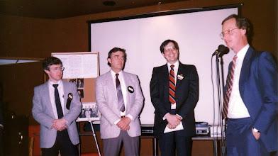 Photo: Chris Frauley, Neil Armstrong, Paul Baker, Bill McKinnon