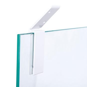 Fixation paroi de douche 5 / 6 mm, pour combles et soupentes, coloris blanc
