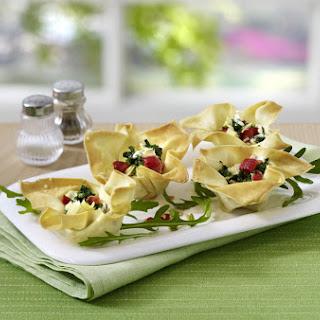 Spinach Wonton Tarts