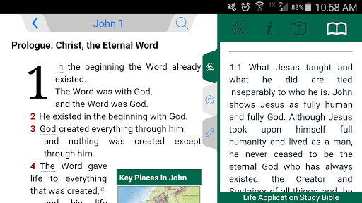 Life Application Study Bible screenshot