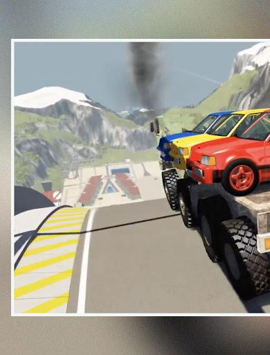 لقطات تجول BeamNG Drive Car Crash 1