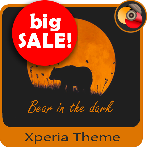 Orange moon | Xperia™Theme  + icons
