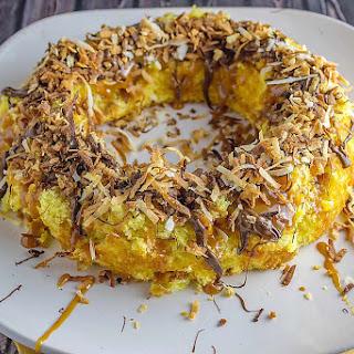 Caramel Coconut Delight Bundt Cake.