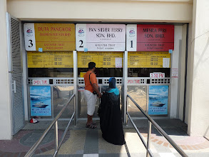 Photo: Lumut - ferry counter, round trip ticket for 10RM