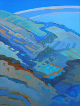 "Photo: ""Curry Point Vista"", acrylic on canvas 16"" x 12"", © Nancy Roberts"