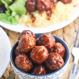 Sweet and Spicy Slow Cooker Meatballs.