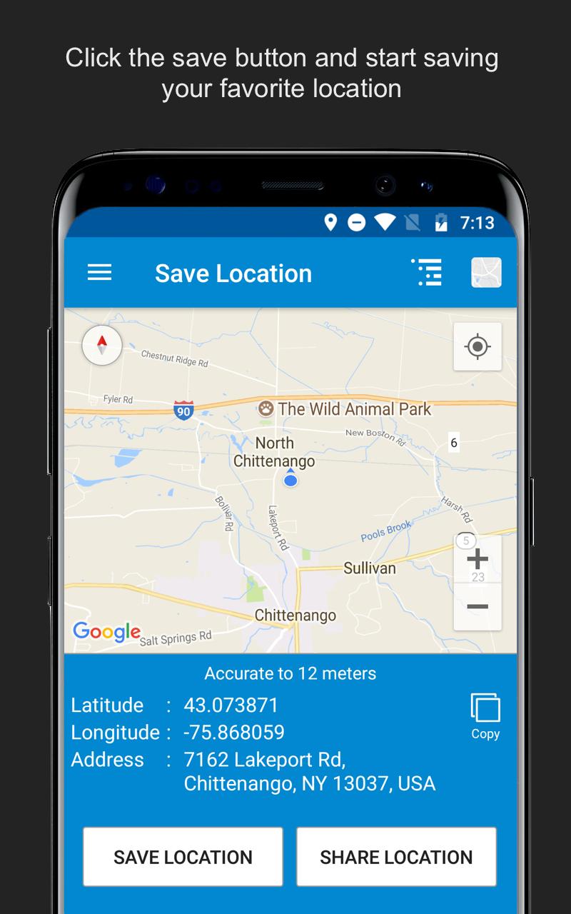 Save Location GPS Screenshot 5